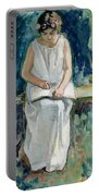 Girl Reading Portable Battery Charger by Henri Lebasque
