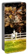 Girl Riding Horse Portable Battery Charger