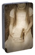 Girl With Books Portable Battery Charger
