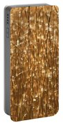 Glistening Gold Prairie Grass Abstract Portable Battery Charger