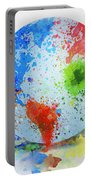 Globe Painting Portable Battery Charger