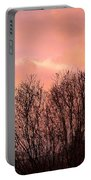 Glow Of A Winter Sunset Portable Battery Charger