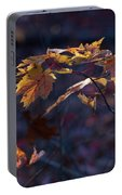 Glowing Maple Leaves Portable Battery Charger