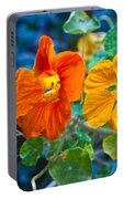 Glowing Nasturtiums 1 Portable Battery Charger