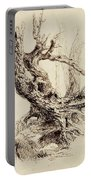 Gnarled Tree Trunk Portable Battery Charger