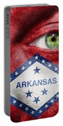 Go Arkansas  Portable Battery Charger by Semmick Photo