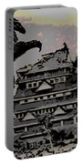 Godzilla And King Kong Hanging Out In Tokyo Portable Battery Charger