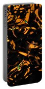 Gold Bokeh Lights Abstract Portable Battery Charger