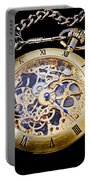 Gold Pocket Watch Portable Battery Charger