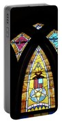 Gold Stained Glass Window Portable Battery Charger