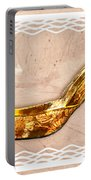 Golden Floral Royalty Shoe Portable Battery Charger
