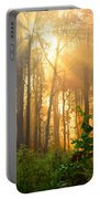 Golden Fog Thru The Trees Portable Battery Charger
