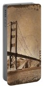 Golden Gate Bridge Sepia Portable Battery Charger