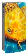 Golden Koi Portable Battery Charger by Daniel Jean-Baptiste