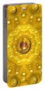 Golden Mandala With Pearls Portable Battery Charger