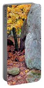 Golden Oak Through Boulders At Elephant Rocks State Park Portable Battery Charger