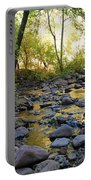 Golden Reflection In The Canyon Of  Light Portable Battery Charger