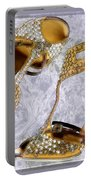 Golden Studded Stilettos Portable Battery Charger