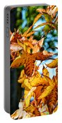 Golden Sweetgum Leaves Portable Battery Charger