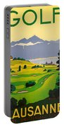 Golfing In Lausanne Portable Battery Charger