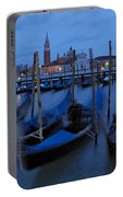 Gondolas At Dusk In Venice Portable Battery Charger