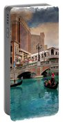 Gondolas On The Canal - Impressions Portable Battery Charger