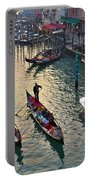 Gondolieri At Grand Canal. Venice. Italy Portable Battery Charger