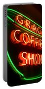 Grace Coffee Shop Neon Portable Battery Charger