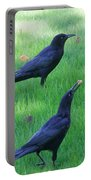 Grackles In The Yard Portable Battery Charger