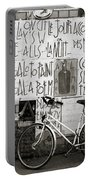 Graffiti And Bicycle Portable Battery Charger