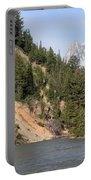 Grand Tetons From Snake River Portable Battery Charger