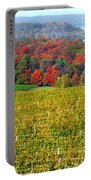Grand Traverse Winery In Autumn Portable Battery Charger