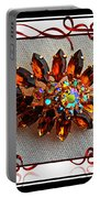 Grandmas Brooch With Digital Frame Portable Battery Charger
