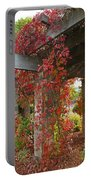 Grape Leaves On Columns Portable Battery Charger