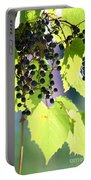 Grapes And Leaves Portable Battery Charger