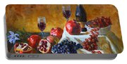 Grapes And Pomgranates Portable Battery Charger