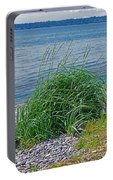 Grass On The Beach Portable Battery Charger