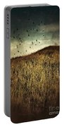 Grassy Hill Birds In Flight Portable Battery Charger