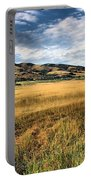Grassy Plains And Ancient Dunes Portable Battery Charger