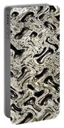 Gray Abstract Swirls Portable Battery Charger