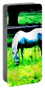 Grazing Horse Portable Battery Charger by Bill Cannon