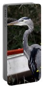 Great Blue Heron - Blue Man Flew Portable Battery Charger