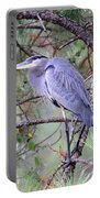 Great Blue Heron - Happy Place Portable Battery Charger