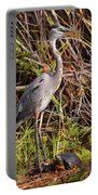 Great Blue Heron And Turtle Portable Battery Charger