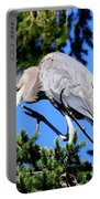 Great Blue Heron Concentration Portable Battery Charger