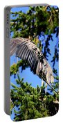 Great Blue Heron Cover Up Portable Battery Charger
