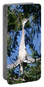 Great Blue Heron Meditation Pacific Northwest Portable Battery Charger