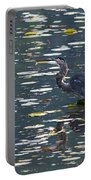 Great Blue Heron With Snack Portable Battery Charger