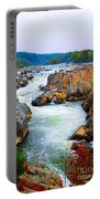 Great Falls On The Potomac River In Virginia Portable Battery Charger