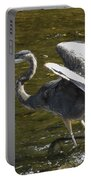 Great Grey Heron Dance Portable Battery Charger
